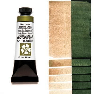 Duochrome Saguaro Green 15ml Tube – DANIEL SMITH Luminescent Watercolour