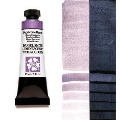 Duochrome Mauve 15ml Tube – DANIEL SMITH Luminescent Watercolour