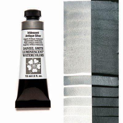 Iridescent Antique Silver 15ml Tube – DANIEL SMITH Luminescent Watercolour