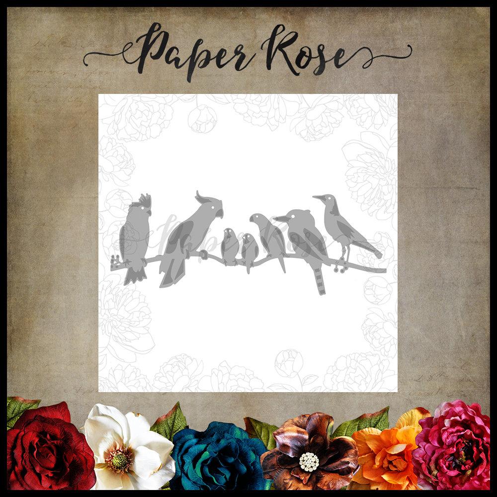 Paper Rose - Australian Birds Metal Cutting Die