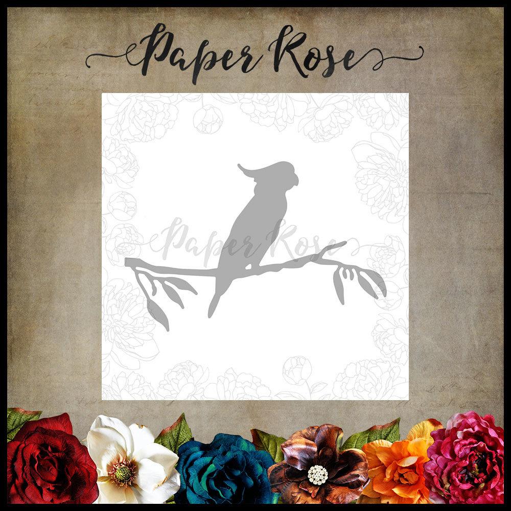 Paper Rose - Cockatoo on Branch Metal Die