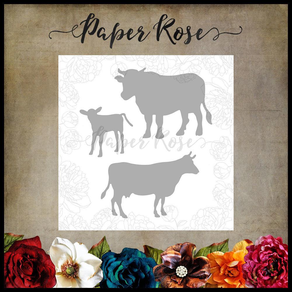Paper Rose - Cow Family Metal Die