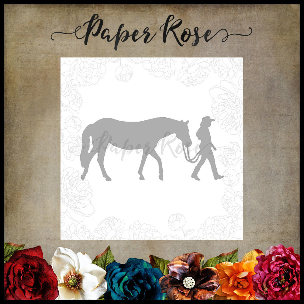 Paper Rose - Girl with Horse (Small) Metal Die