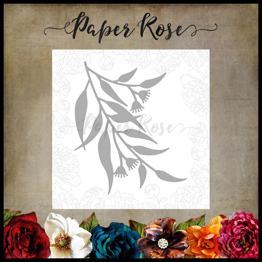 Paper Rose - Gum Leaves 1 Metal Die