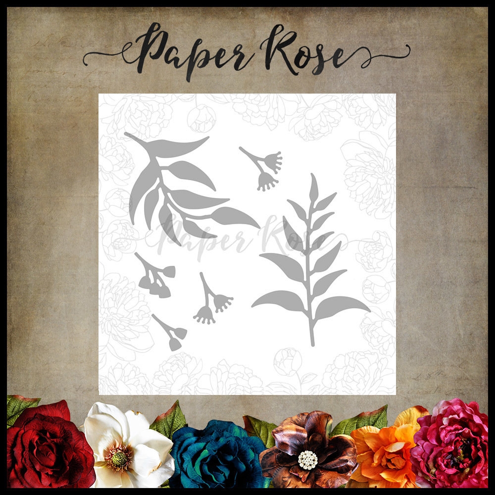 Paper Rose - Gum Leaves 3 Metal Die
