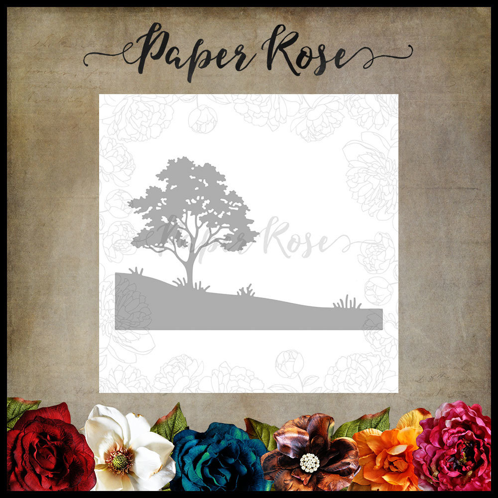 Paper Rose - Gum Tree Landscape Metal Die