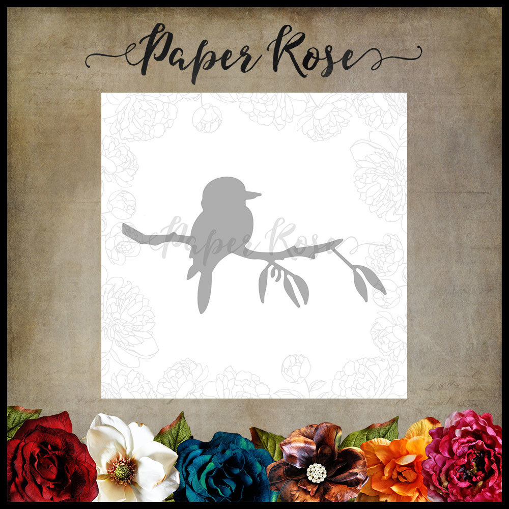Paper Rose - Kookaburra on Branch Metal Die