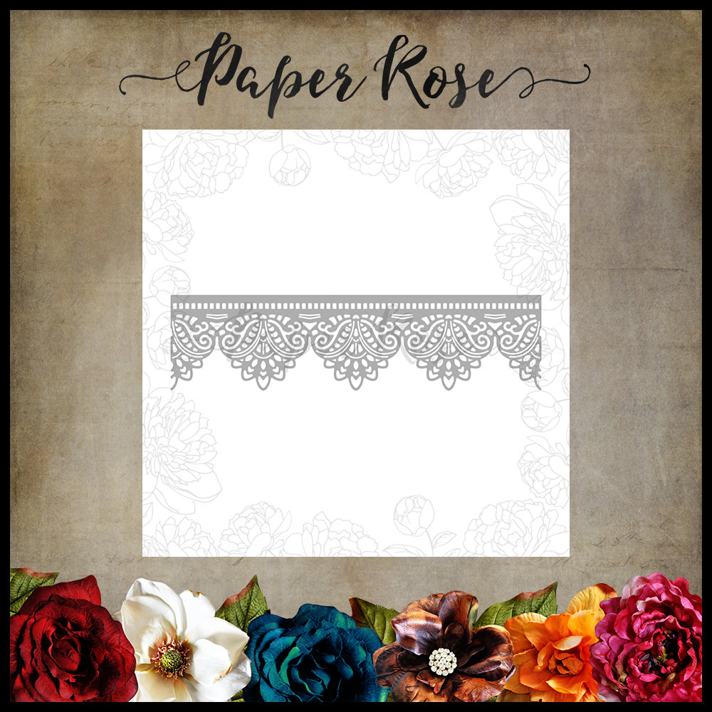 Paper Rose - Madison Lace Edge Metal Die
