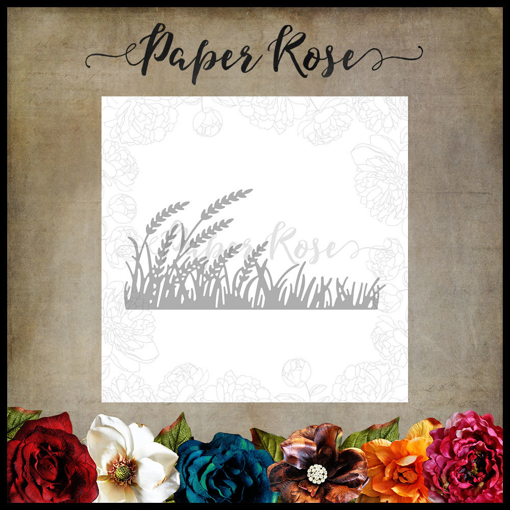 Paper Rose - Wheat & Grass Border Metal Die