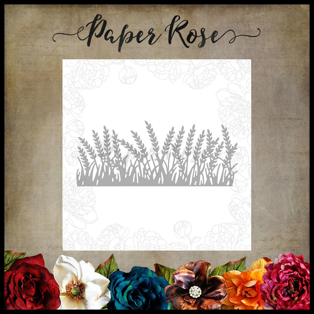 Paper Rose - Wheat Field Border Metal Die