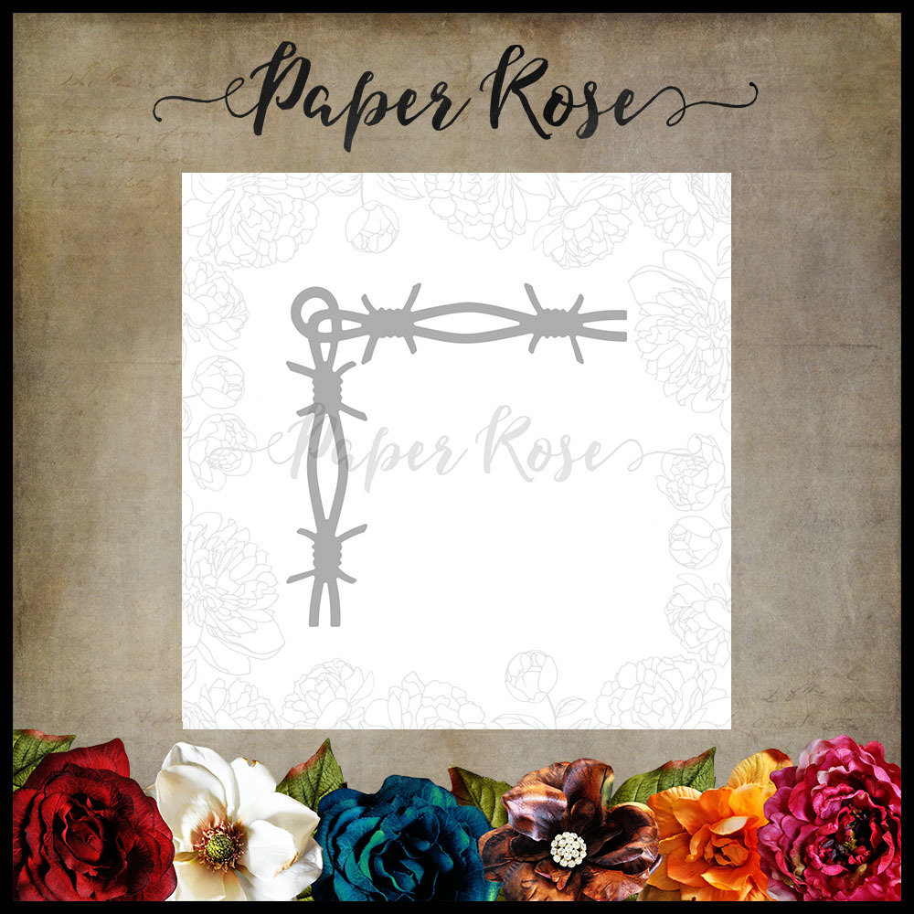 Paper Rose - Barbed Wire Chunky Corner Metal Die