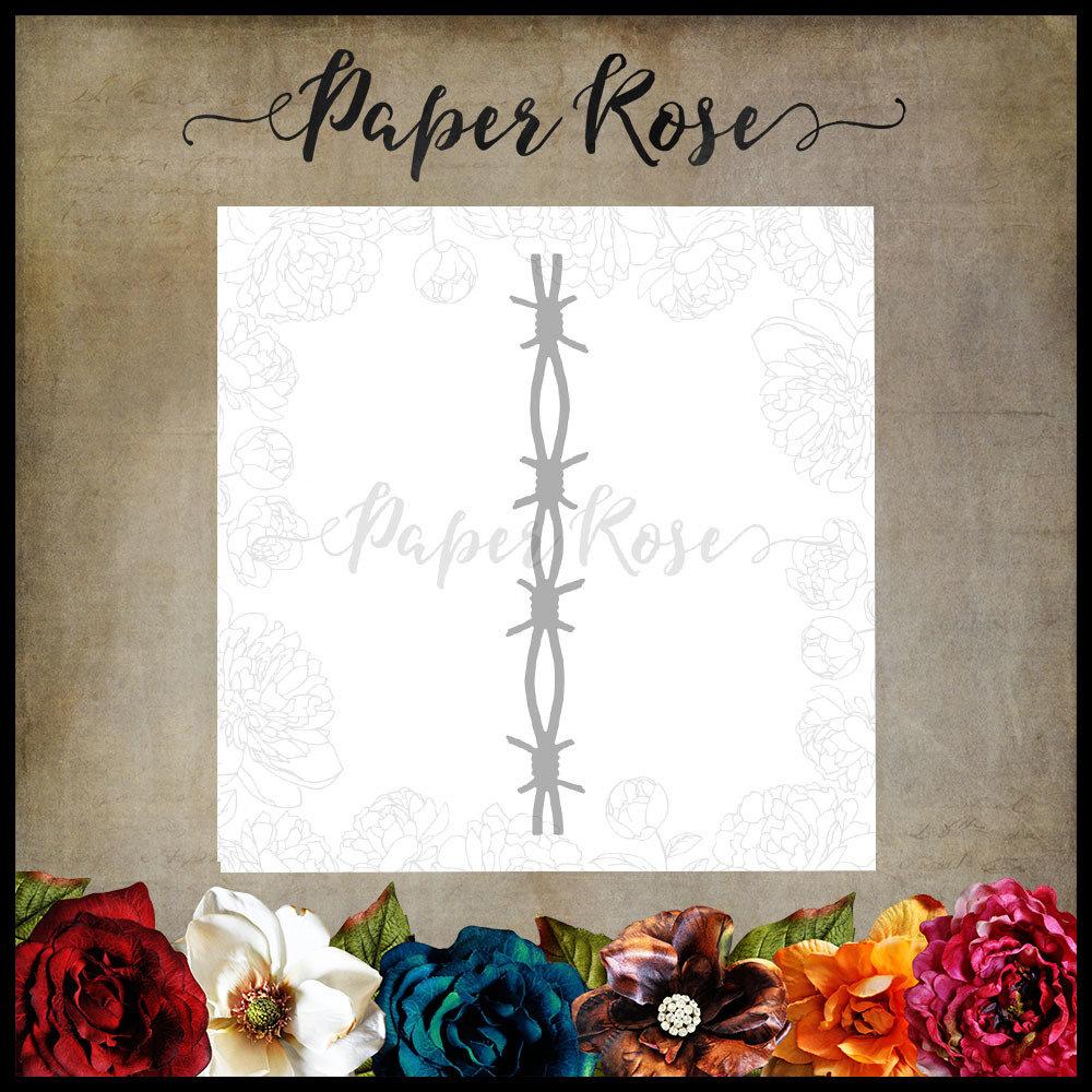 Paper Rose - Barbed Wire Chunky Metal Die
