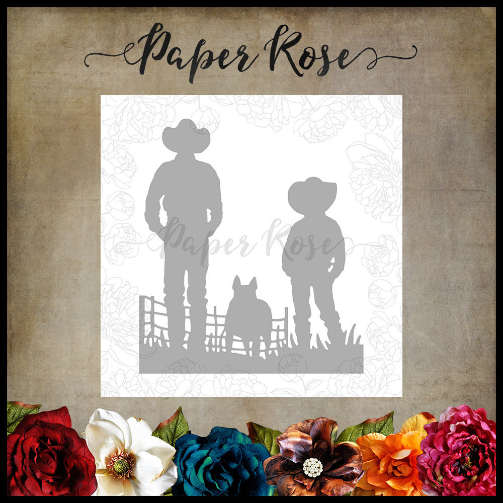 Paper Rose - Farmer & Boy Metal Die