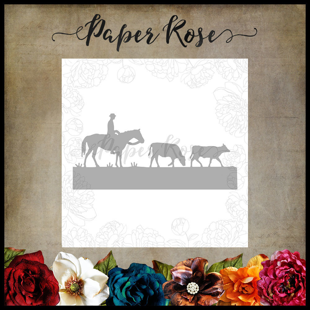 Paper Rose - Stockman with Cows Metal Die