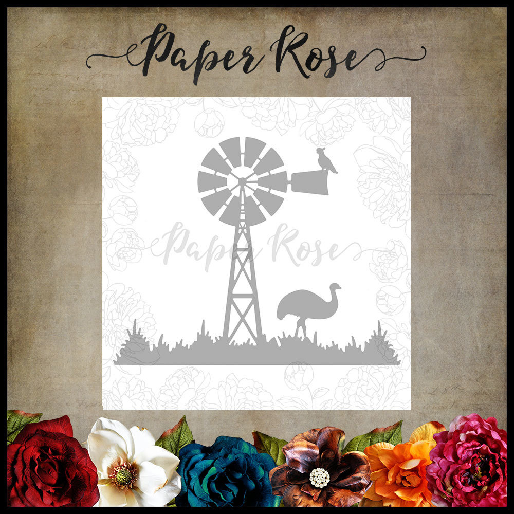 Paper Rose - Windmill with Emu Metal Die