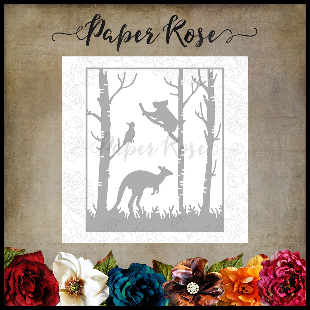 Paper Rose - Kangaroo in Forest Metal Die