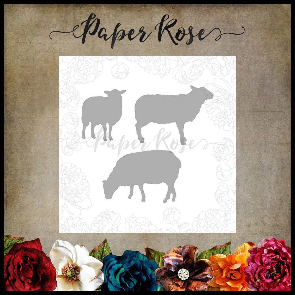 Paper Rose - Sheep Family Metal Die