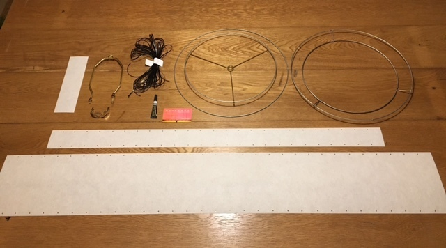 DIY Kit 2 Tier Fiberglass Lamp Shade Kit 15x9