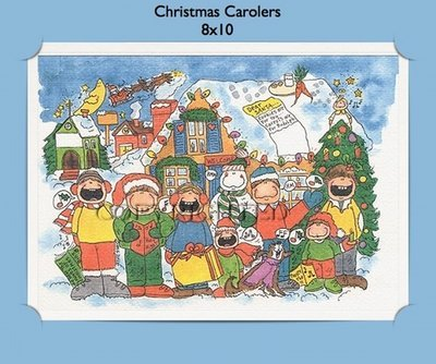 Christmas Carolers - Personalized Cartoon Gift