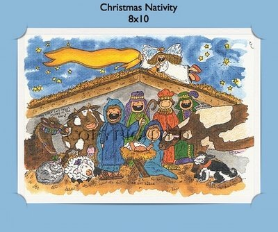 Christmas Nativity - Personalized Cartoon Gift