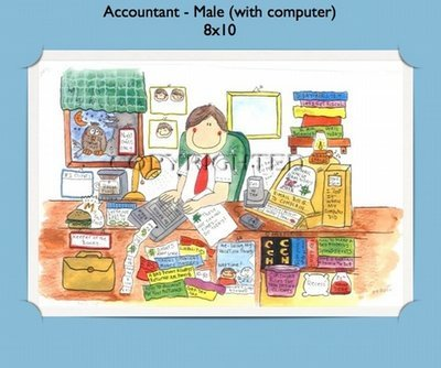 Accountant - Personalized Cartoon Gift (Male)