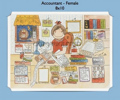 Accountant Personalized Cartoon Gift (Female)
