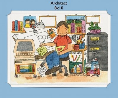 Architect Personalized Cartoon Gift