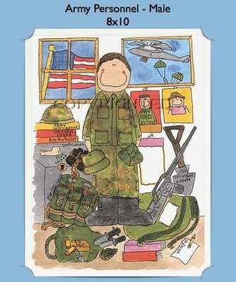Army Male  - Personalized Cartoon Gift (#1)