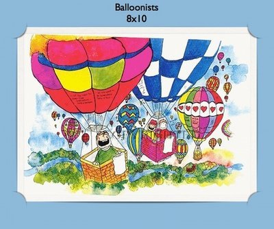 Balloonists  - Personalized Cartoon Gift