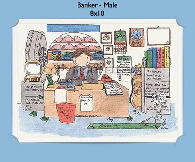 Banker - Personalized Cartoon Gift (Male)