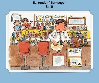 Bartender  - Personalized Cartoon Gift