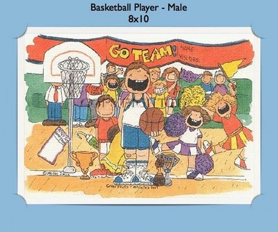 Basketball Player - Personalized Cartoon Gift (Male)