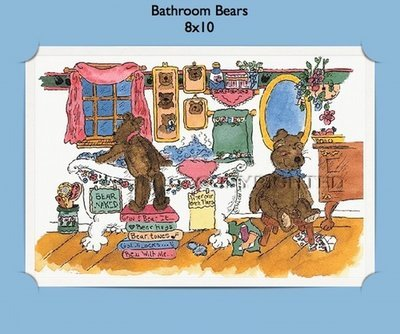 Bathroom Bears - Personalized Cartoon Gift