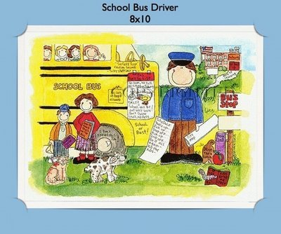 Bus Driver  - Personalized Cartoon Gift