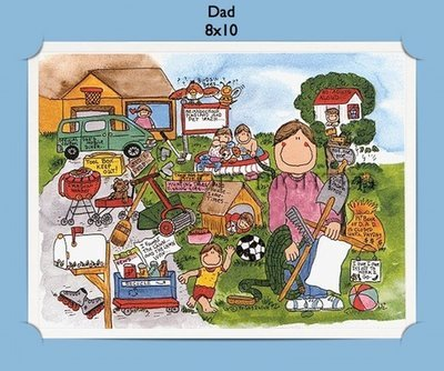 Dad or Father - Personalized Cartoon Gift