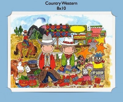 Country Western - Personalized Cartoon Gift