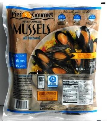 Mussels BLK/BLUE WHL Shell 10x1 (Global Foods)