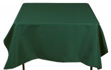 TABLECLOTHS HUNTER GREEN 1/1EACH