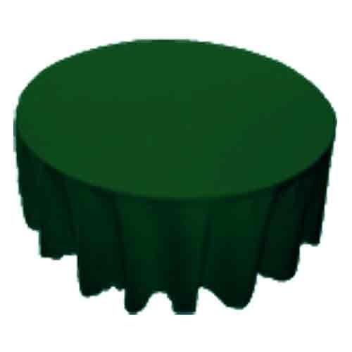 TABLECLOTHS ROUND HUNTER GREEN 1/1EACH