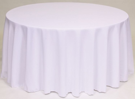 TABLECLOTHS ROUND WHITE 1/1EACH