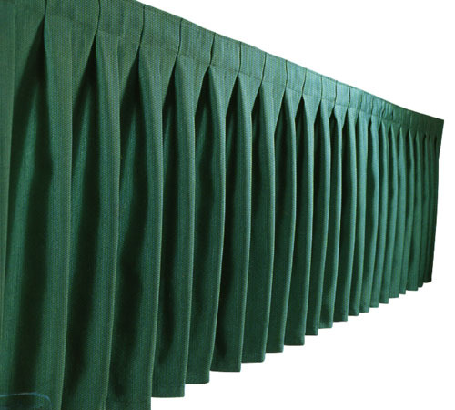TABLESKIRTING BOX PLEAT POLY HUNTER GREEN 1/1EACH