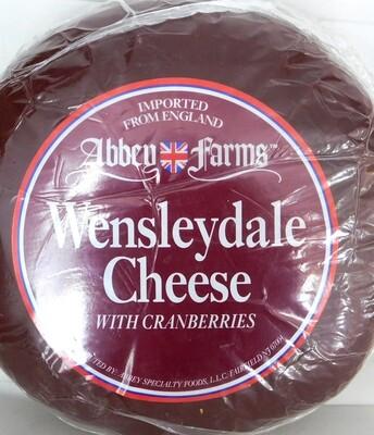 Cheese English Wensleydale w/ Cranberry 1x5LB