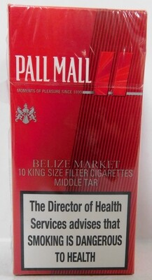 PALL MALL RED 10s KRE SQ BEZ