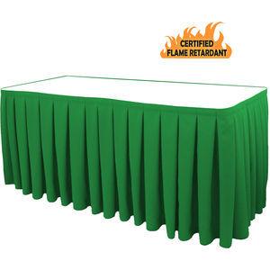 Tableskirting Box Pleat Poly Hunter Green 30x96