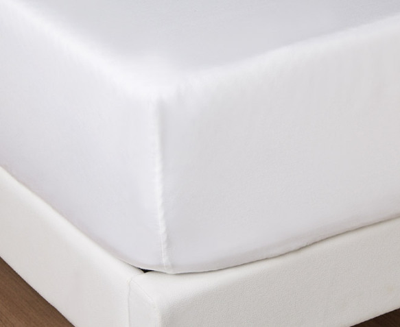 SHEET QUEEN FITTED WHITE 60x80