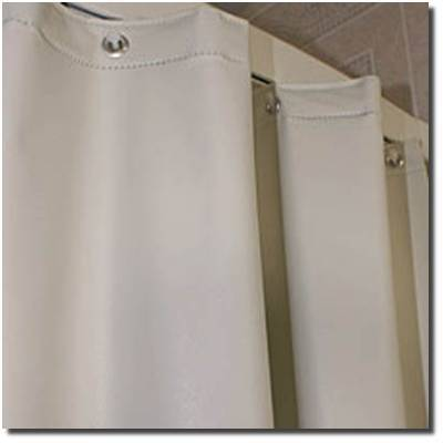 SHOWER CURTAIN SAN SUEDE WHITE 1/1EACH