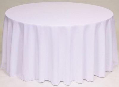 TABLECLOTHS ROUND WHITE 1/1EACH