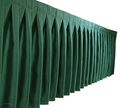 TABLESKIRTING BOX PLEAT POLY HUNTER GREEN 1/1EACH