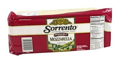 Sorrento Cheese Mozzarella Loaf W/M 8x5LB