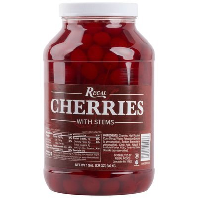 CHERRIES MARASCHINO WITH STEMS sys rel 4/1GAL